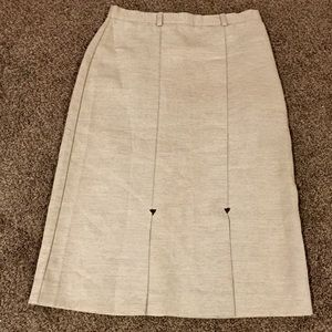 Vintage Tan Darted Lori Lynn Skirt Size 14